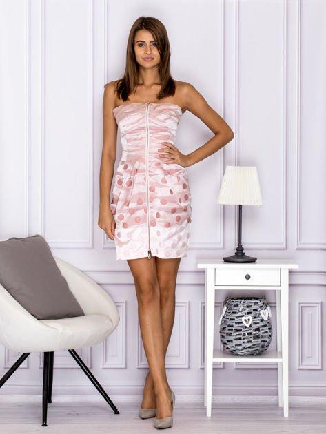 Różowa sukienka w grochy                               zdj.                              4