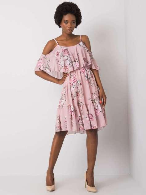 Różowa sukienka w kwiaty Nerissa OCH BELLA