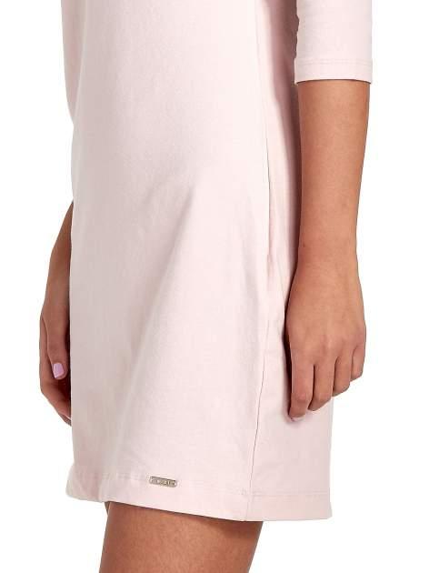 Różowa sukienka z dekoltem w łódkę                                  zdj.                                  7