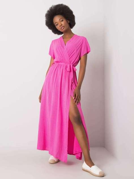 Różowa sukienka z rozcięciem Josephine