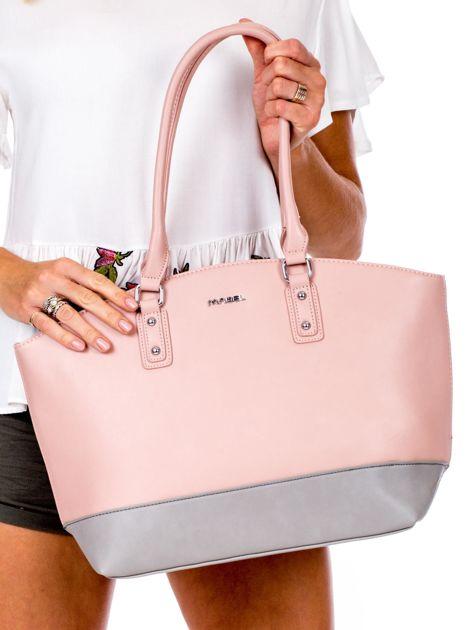 Różowa torba damska two tone                              zdj.                              1