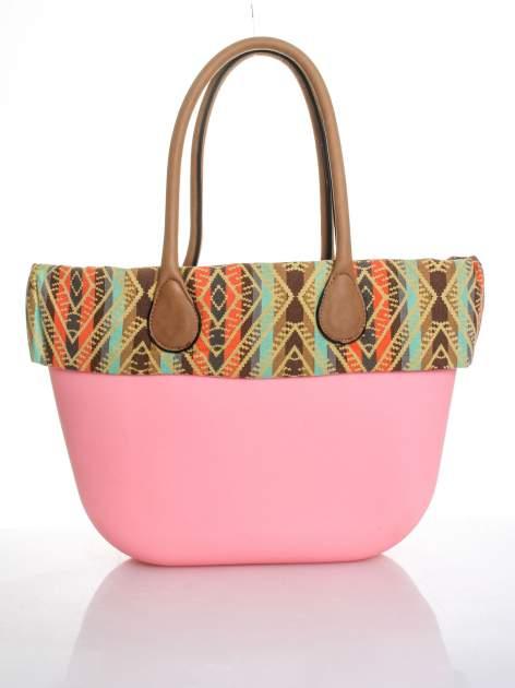 Różowa torba gumowa z motywem azteckim                                  zdj.                                  1