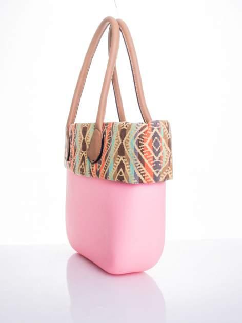 Różowa torba gumowa z motywem azteckim                                  zdj.                                  3