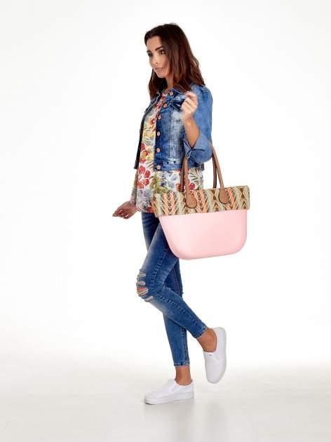 Różowa torba gumowa z motywem azteckim                                  zdj.                                  2
