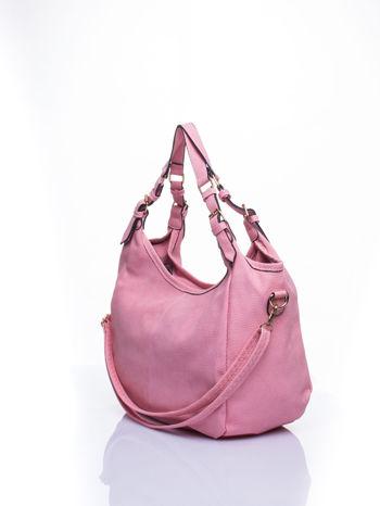 Różowa torba hobo z klamerkami                                  zdj.                                  5
