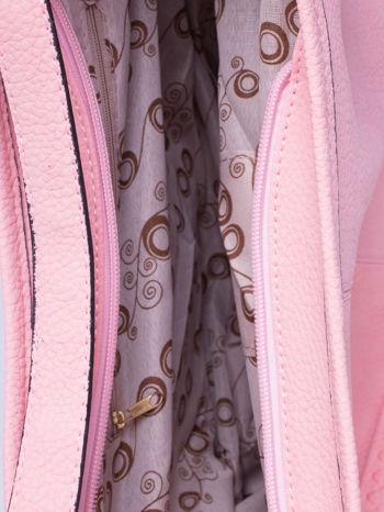 Różowa torba hobo z klamerkami                                  zdj.                                  6