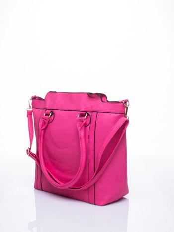 Różowa torba miejska z odpinanym paskiem                                  zdj.                                  2