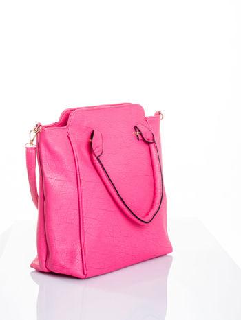 Różowa torba shopper bag                                  zdj.                                  3