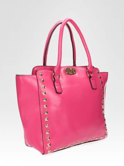 Różowa torebka na ramię z dżetami                                  zdj.                                  6