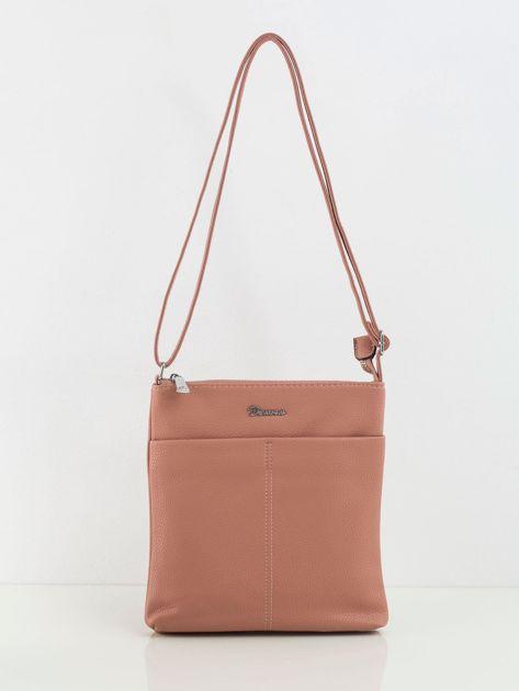 Różowa torebka ze skóry ekologicznej