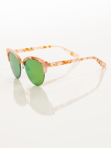 Różowe Marmurkowe Okulary Przeciwsłoneczne KOCIE OCZY                              zdj.                              5