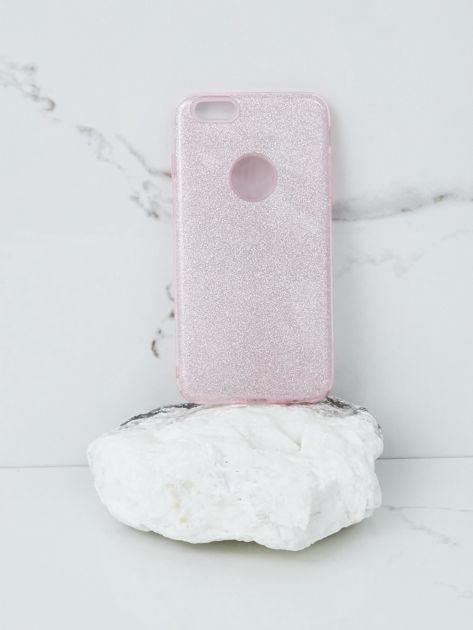 Różowe brokatowe etui do iPhone 6G Plus