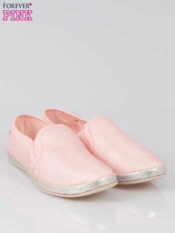 Różowe buty slip-on                                  zdj.                                  2