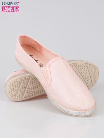 Różowe buty slip-on                                  zdj.                                  4