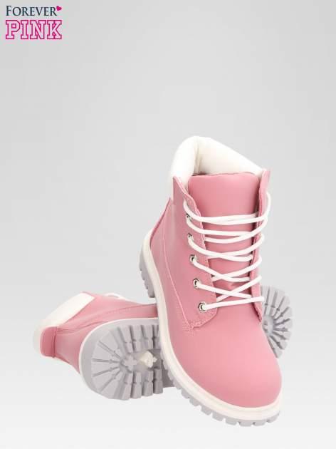 Różowe buty trekkingowe damskie traperki Shimmy                                  zdj.                                  4
