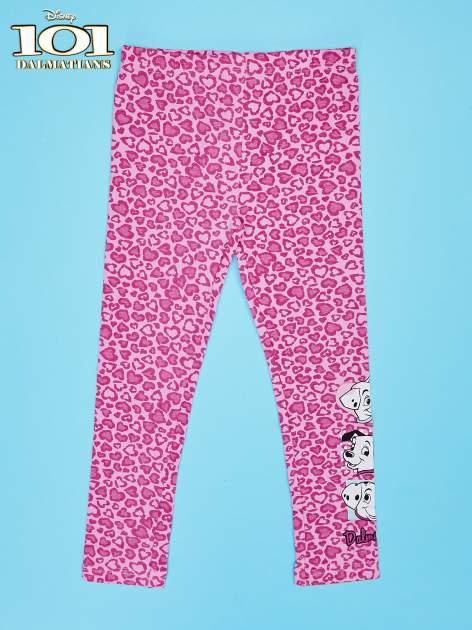 Różowe legginsy dla dziewczynki 101 DALMATYŃCZYKÓW
