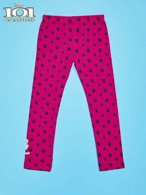 Różowe legginsy dla dziewczynki motyw 101 DALMATYŃCZYKÓW                                  zdj.                                  2