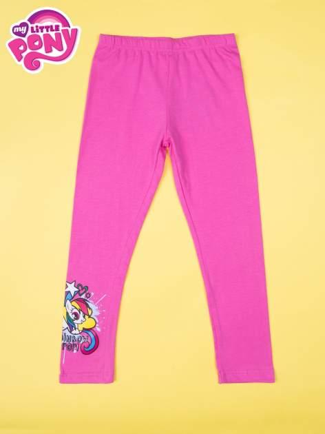 Różowe legginsy dla dziewczynki z motywem MY LITTLE PONY                                  zdj.                                  1