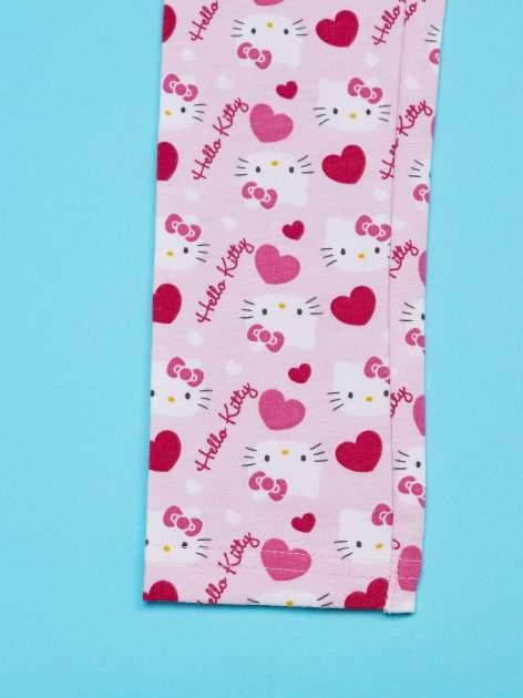 Różowe legginsy dla dziewczynki z nadrukiem HELLO KITTY                                  zdj.                                  4