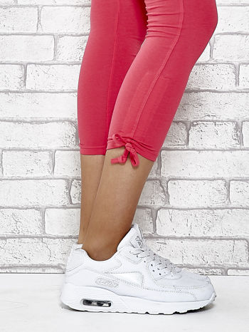 Różowe legginsy sportowe 7/8 z wiązaniem                                  zdj.                                  7