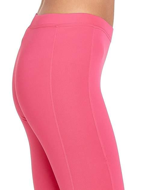Różowe legginsy sportowe termalne z drapowaniem                                  zdj.                                  5
