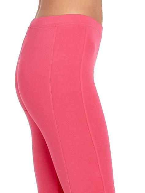 Różowe legginsy sportowe z drapowaniem                                  zdj.                                  5