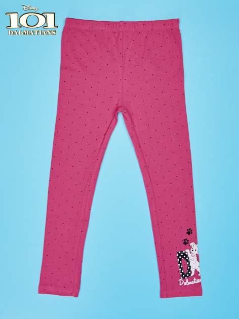 Różowe legginsy w kropki dla dziewczynki 101 DALMATYŃCZYKÓW                                  zdj.                                  1