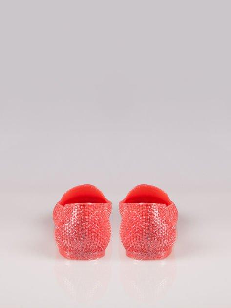 Różowe lordsy material Gummy Bear z efektem glitter                                  zdj.                                  3