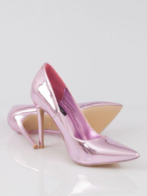 Różowe metaliczne szpilki w szpic Pinky                                  zdj.                                  4