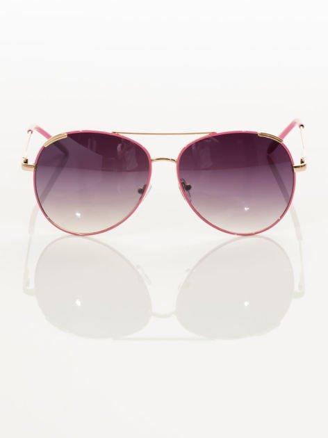 Różowe pilotki okulary przeciwsłoneczne typu AVIATOR                                  zdj.                                  2