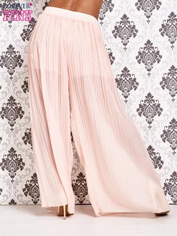 Różowe plisowane spodnie palazzo                                   zdj.                                  3