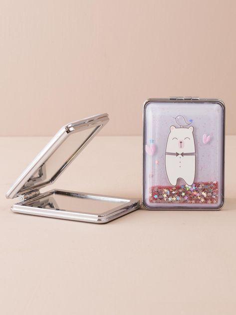 Różowe prostokątne lusterko