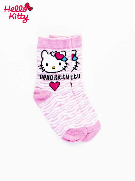 Różowe skarpetki dla dziewczynki HELLO KITTY                                  zdj.                                  1