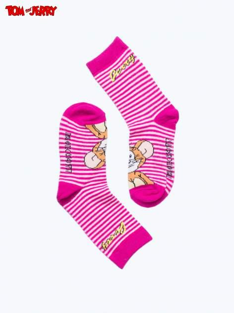 Różowe skarpetki dla dziewczynki TOM I JERRY                                  zdj.                                  2