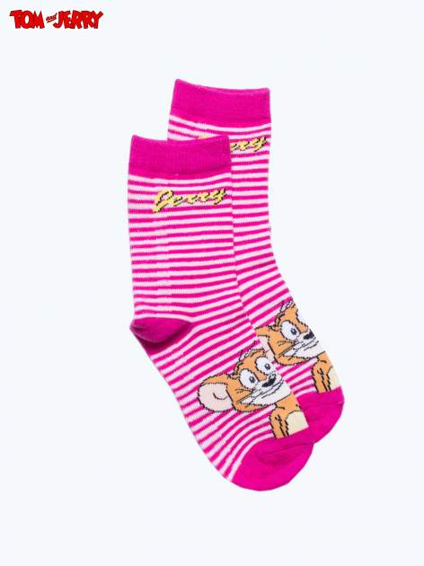 Różowe skarpetki dla dziewczynki TOM I JERRY                                  zdj.                                  1