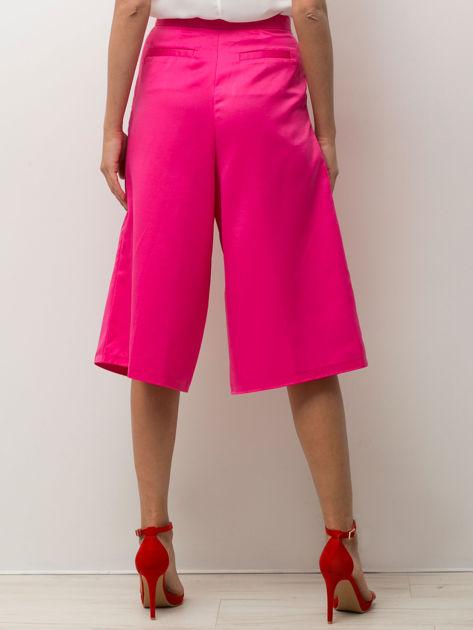 Różowe spódnicospodnie typu culottes                                  zdj.                                  5