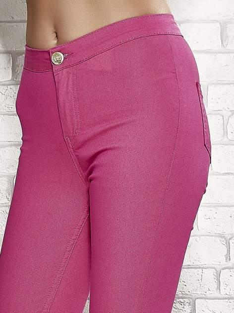 Różowe spodnie rurki skinny                                  zdj.                                  5