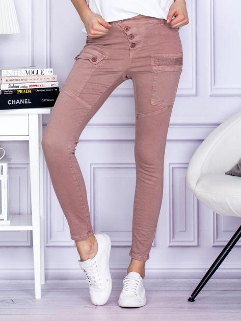 Różowe spodnie z kieszeniami                               zdj.                              1