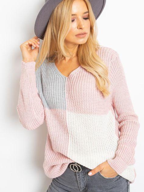 Różowo-szary sweter Latina                              zdj.                              5