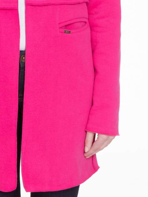 Różowy dresowy bluzopłaszczyk o pudełkowym kroju                                  zdj.                                  6