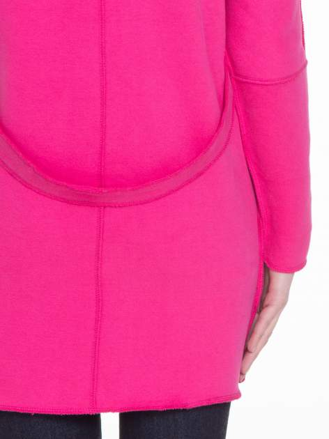 Różowy dresowy płaszcz o kroju oversize                                  zdj.                                  8