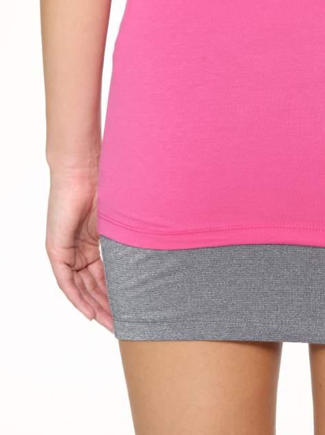 Różowy gładki top na szerokich ramiączkach                                  zdj.                                  9