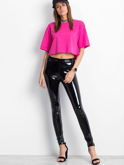 Różowy krótki t-shirt                               zdj.                              4
