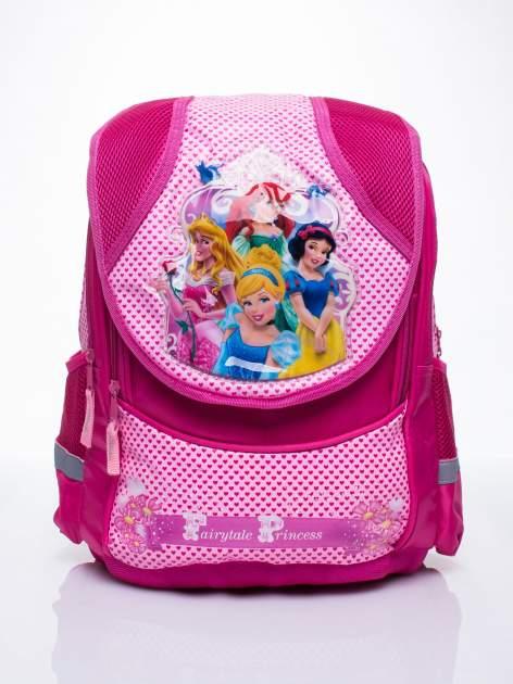 Różowy plecak dla dziewczynki DISNEY z księżniczkami                                  zdj.                                  1