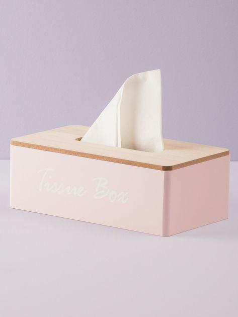 Różowy pojemnik na chusteczki                               zdj.                              2
