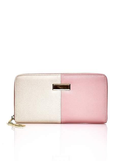 Różowy portfel two tone z uchwytem                                  zdj.                                  1