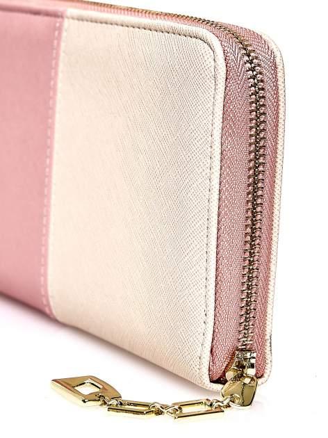 Różowy portfel two tone z uchwytem                                  zdj.                                  5