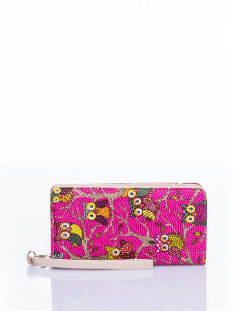 Różowy portfel w sówki