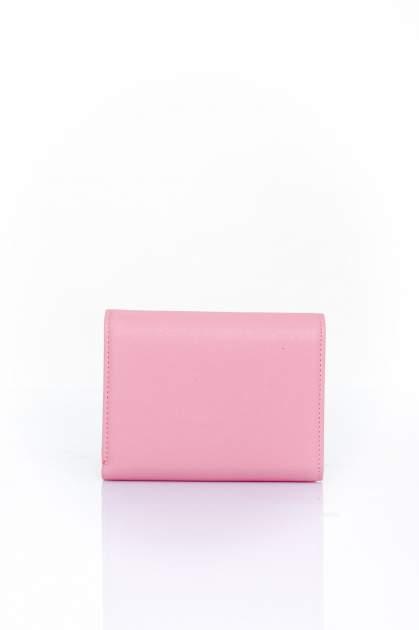 Różowy portfel z kokardką                                  zdj.                                  2