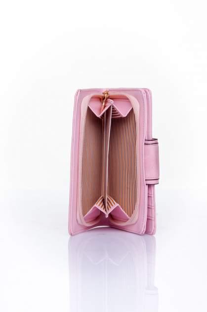 Różowy portfel z ozdobnym zapięciem                                  zdj.                                  5